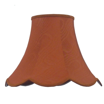 Scalloped Bowed Candle Terracotta Moire